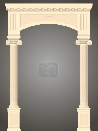 Illustration for Classic antique portal with columns in vector graphics - Royalty Free Image