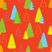 New year orange background with Christmas trees Will look good on paper for packing gifts for Christmas