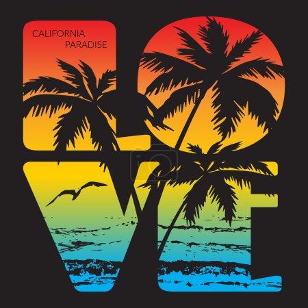California paradise Typography Graphics