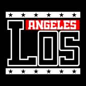 T shirt typography Los Angeles California