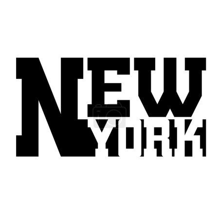 T shirt typography graphic New York
