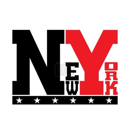 T shirt typography stars New York