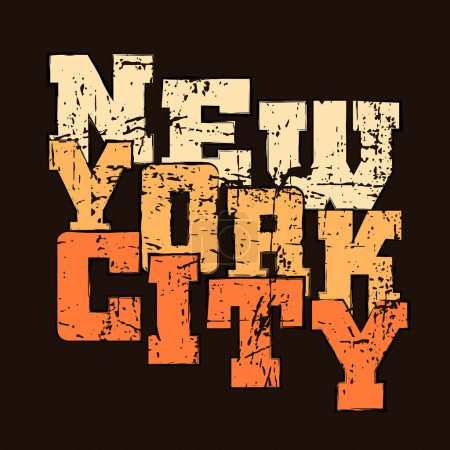 T shirt typography graphics New York Athletic style NYC