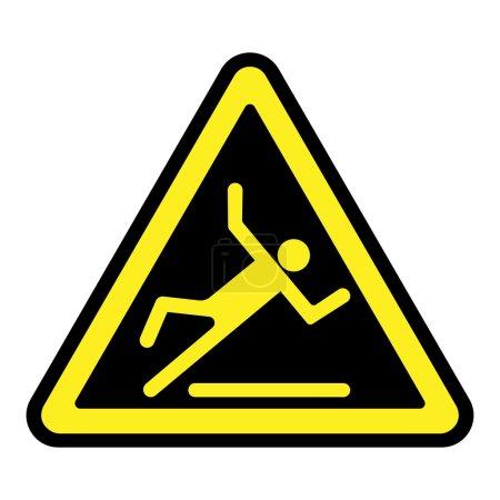 Slippery yellow sign