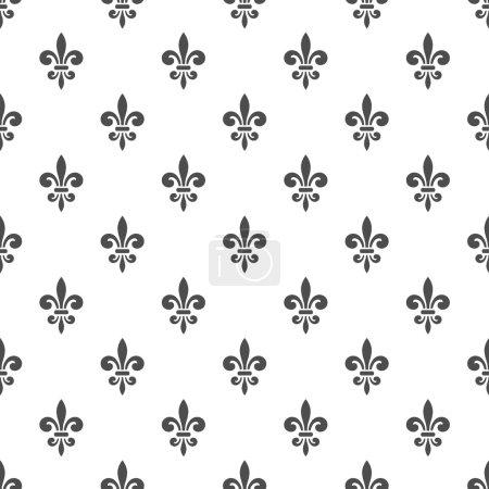 royal lily seamless pattern