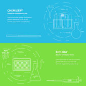 chemistry biology banner template