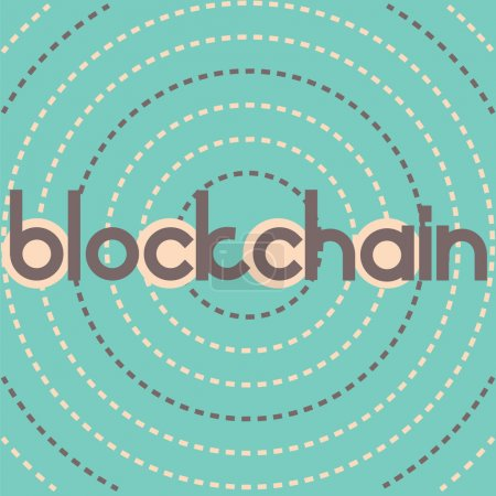 blockchain  dashed circles