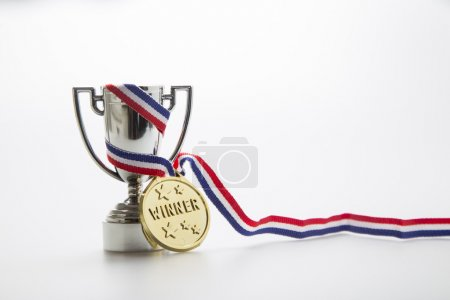 Winners medal and trophy
