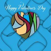 Šťastný Valentýn přání šablona
