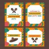 Printable tribal set of mexican fiesta cinco de mayo   party el