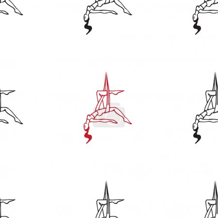 anti-gravity yoga vector