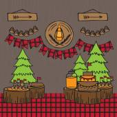 Rustic Woodsy Outdoor Lumberjack party ideas camping party ideas