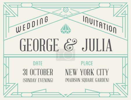 Vintage Style Invitation for Wedding Party