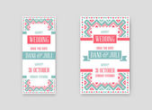 Set of Vector Design Awesome Wedding Invitation Template with Mandala or Doodles Theme Ideal for Save The Date Christmas Eve Mothers Day Valentines Day Birthday cards Invitations or Baby Shower