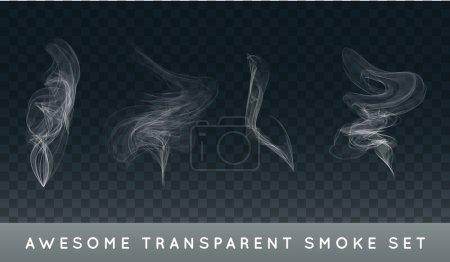 Set of Realistic Cigarette Smoke