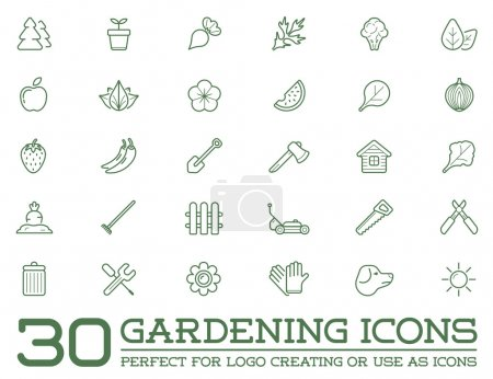 Set of 30 Garden and Farm Elements