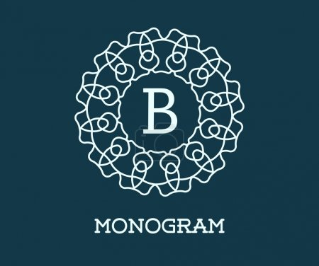 Monogram Design Template with Letter B