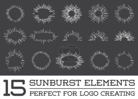Set of 15 Sunburst Elements