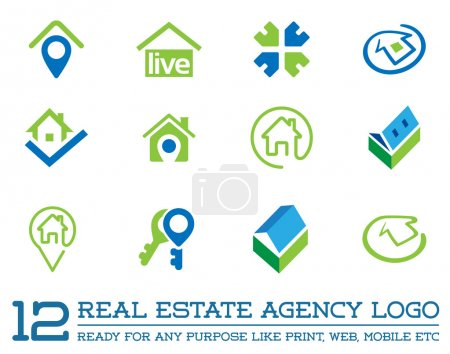 Template logo for real estate agency