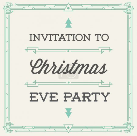 Vintage Invitation to Christmas Eve Party