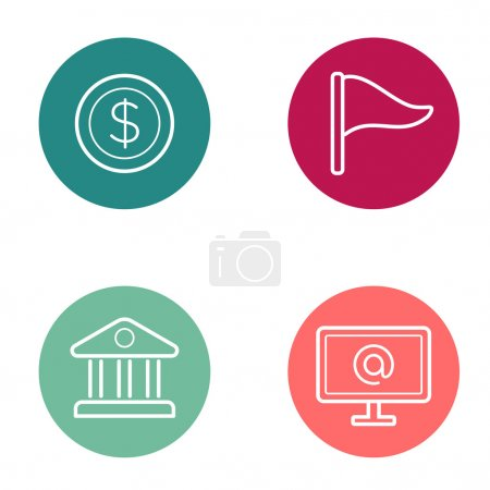 Round Circle Buttons with Icons