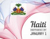 National Day of Haiti in Blending Lines Style Vector with Date