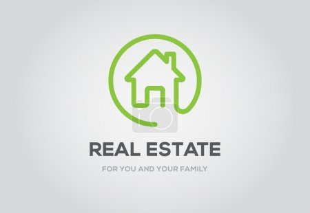 Illustration for Template logo for real estate agency or cottage town elite class. Real estate logo - Royalty Free Image
