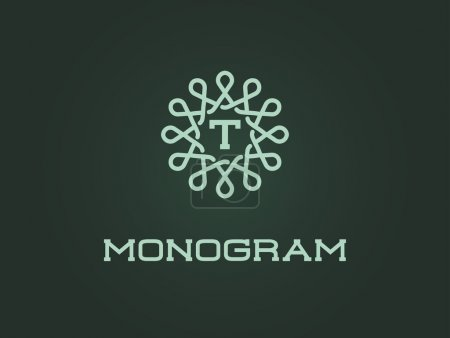 Monogram Design Template with Letter T