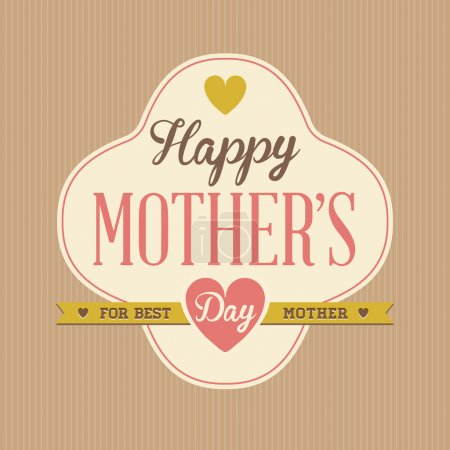 Vintage Happy Mothers's Day Poster