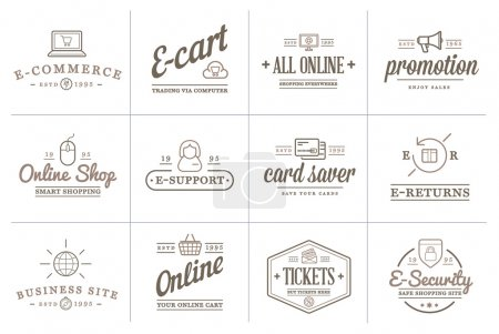 E-Commerce Icons Shopping and Online