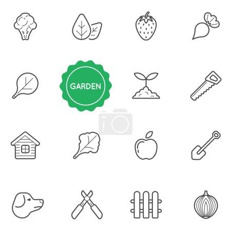 Set of Garden Elements