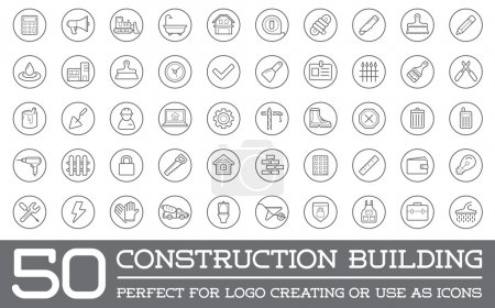 Illustration for Set of Vector Construction Building Icons Home and Repair can be used as Logo or Icon in premium quality - Royalty Free Image