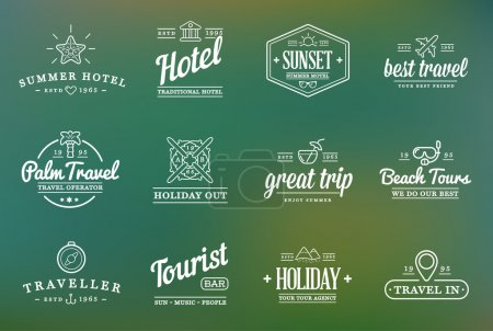 Travel Tourism and Holiday Elements Icons