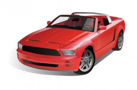 Red car cabriolet