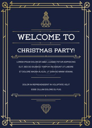 Great Vintage Invitation to Christmas Party