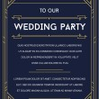 Great Vintage Invitation Sign in Art Deco or Gatsb...