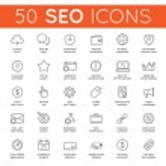Set of 50 Vector SEO Search Engine Optimisation El...