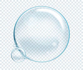 Vector Soap Water Bubbles Transparent Isolated Realistic Design Elements Can be used with any Background