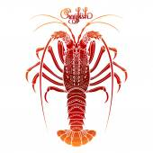Graphic vector crayfish
