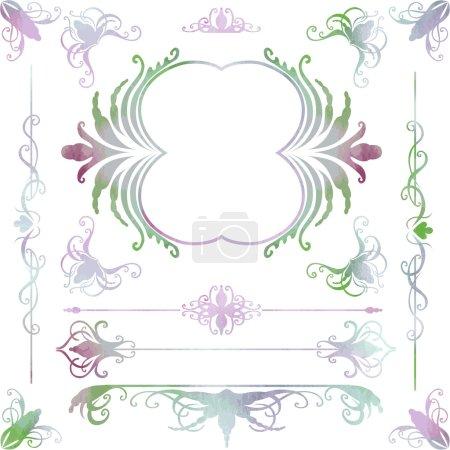 Graphic ornate design elements.