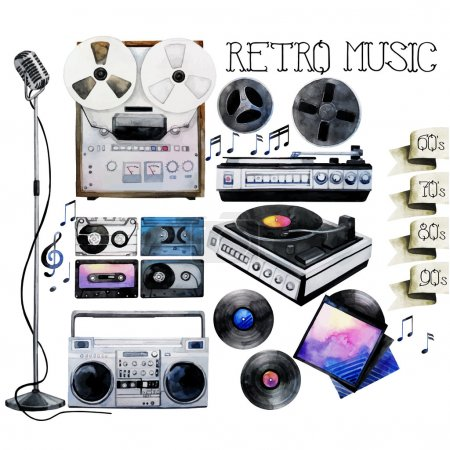 Watercolor musical devices