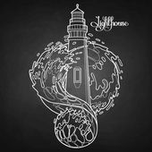 Graphic lighthouse during a storm