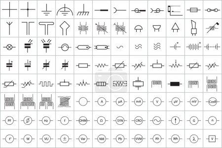 96 Electronic and Electric Symbol Vector Vol.1