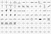 96 Electronic and Electric Symbol Vector Vol1