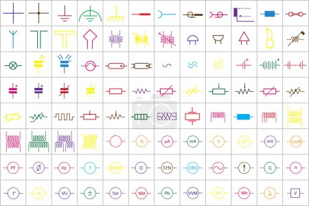96 Electronic and Electric Symbols v.1