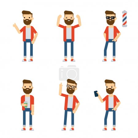 Set of vector flat style characters.