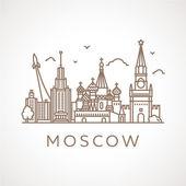Moskau mit berühmten Bauwerken und Orten