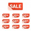 Vector set of discount prices tags...