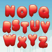 alphabet made of flying balloons
