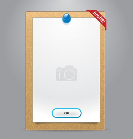 Illustration for Vector realistic tablet with corner for web design - Royalty Free Image